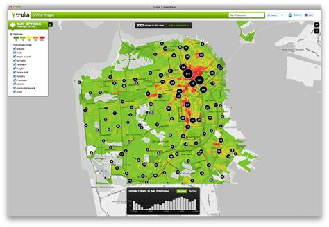 trulia map trulia crime map my