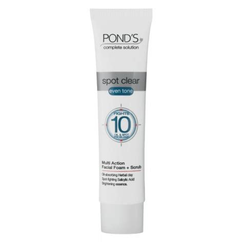 Ponds Scrub pond s pond s spot clear even tone foam and scrub review bulletin cleansers