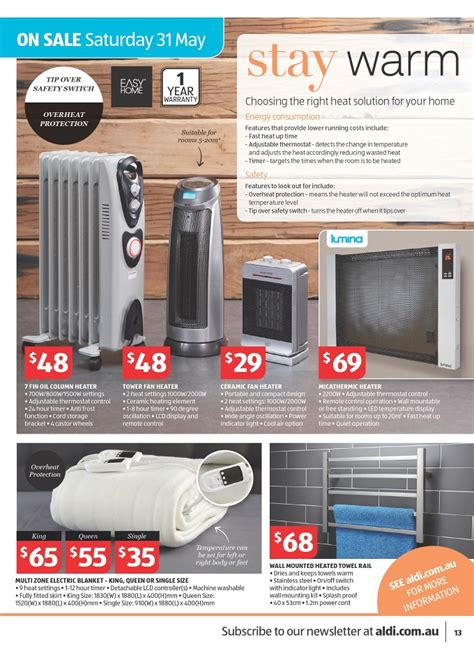 easy home tower fan aldi home sale catalogue special buys page 13