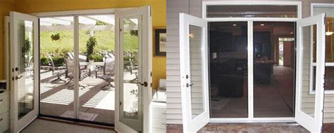 outswing patio doors with retractable screens outswing doors with screen retractable screens