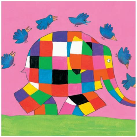 Elmer Patchwork - elmer the patchwork elephant greeting card bo s