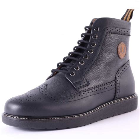 fred perry mens boots fred perry northgate mens boots in black