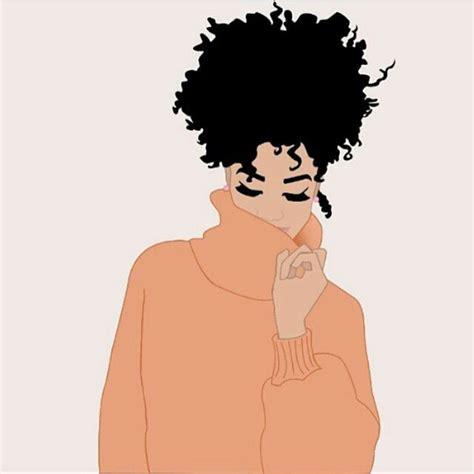 natural hairstyles cartoon black art pinteres