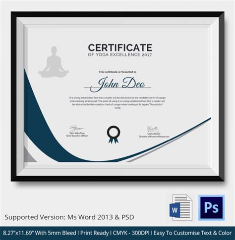 badminton certificate template 28 images free