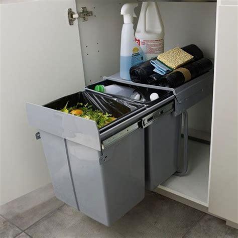 poubelle de porte de cuisine poubelle de porte scala 2 x 20 l castorama poubelle