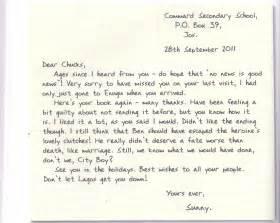 grammar clinic letter writing informal letter passnownow