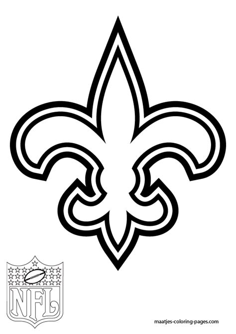 Coloring Pages Of Saints New Orleans Saints Free Coloring Pages
