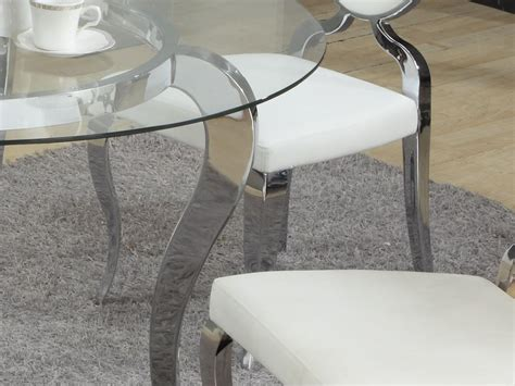 Italian Dining Room Sets refined round glass top dining room furniture dinette
