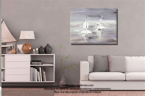 Supérieur Peinture Pour Salle A Manger Et Salon #5: Tableau-gris-blanc-d%C3%A9co-d%C3%A9co-salon-Voyage-en-mer.jpg
