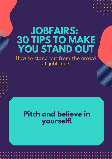 4 Tips To Make Your - 4 jobfairs 30 tips to make you stand out 183 mycvfactory