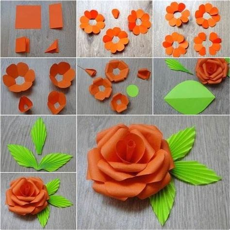 diy paper flower flowers diy crafts home made easy crafts