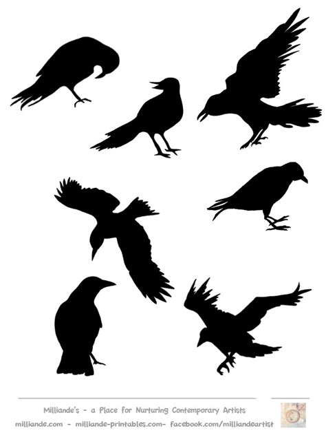 imgs for gt crow outline template