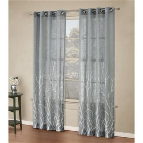 branch curtains alton print grommet window curtain panel home