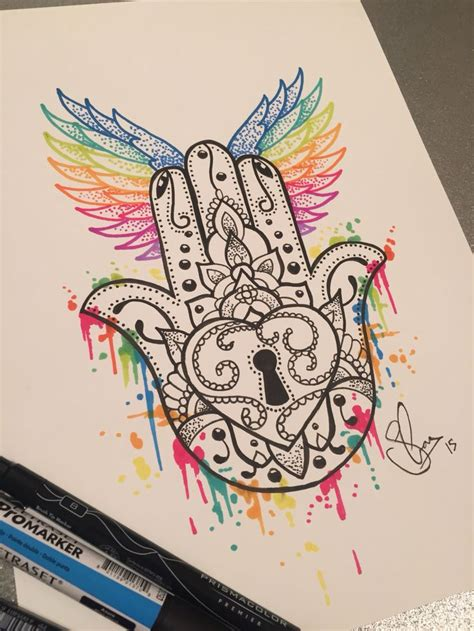 hamsa hand design by andywillmore pinteres best 25 hamsa tattoo design ideas on pinterest hamsa