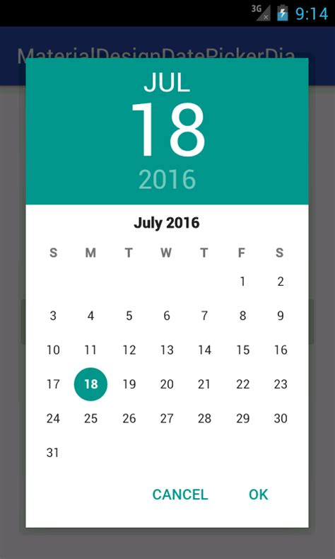 android date picker create show material design datepicker dialog for android kitkat 4 0 pre lollipop devices