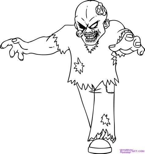 zombie coloring book pages zombies coloring pages experienced zombie image 3