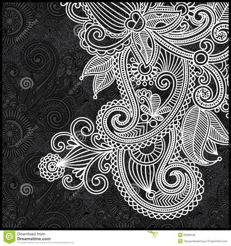 white pattern drawing black and white floral pattern royalty free stock image