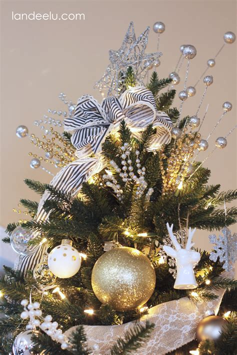 metallic neutral christmas tree decorations landeelu com