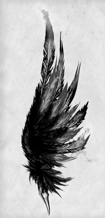 black and white angel wings tattoo designs black and white feather ideas white