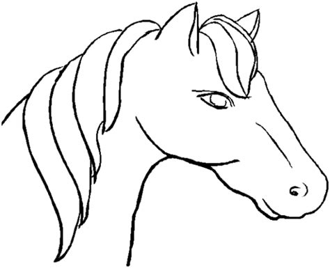 simple horse coloring page horse head coloring pages clipart best
