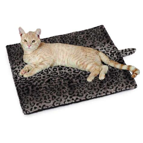 Mat Cat by Slumber Pet Thermal Cat Mat Gray Leopard At Baxterboo