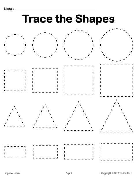 triangle pattern to trace 3 free tracing shapes worksheets smallest to largest