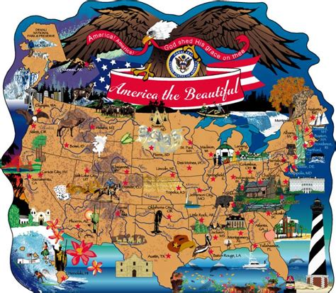 beautiful states america the beautiful map the cat s meow village