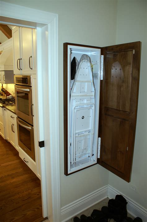Ironing Board Cabinet Laundry Room Traditional With Built Built In Wall Laundry