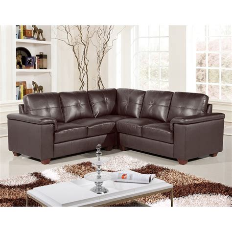 Chocolate Leather Corner Sofa 5 Seater Brown Leather Pocket Sprung Corner Sofa