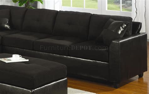 Black Suede Sectional Sofa Black Suede Sectional Sofa Cleanupflorida