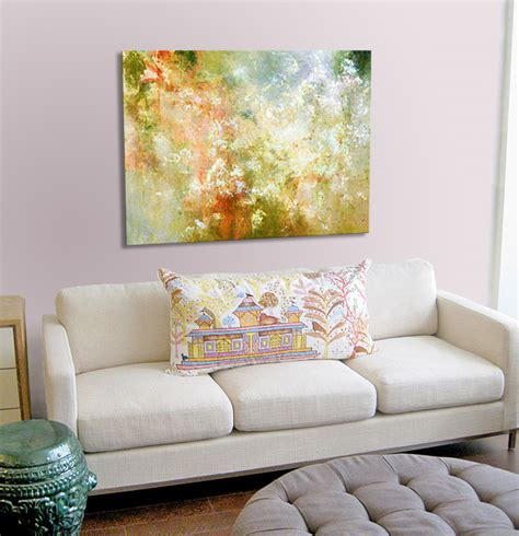 artwork for home abstract canvas art enchanted blossoms home setting