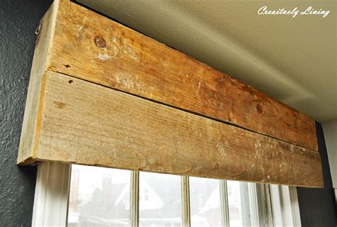 Rustic Wood Cornice Diy Rustic Window Valances By Creatively Living