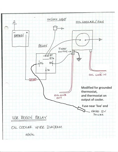 thermo switch wiring diagram wiring up a fuel cut of switch and cooler fan