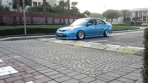 lowered cars and speed bumps slammed honda civic vs speed hump stance youtube
