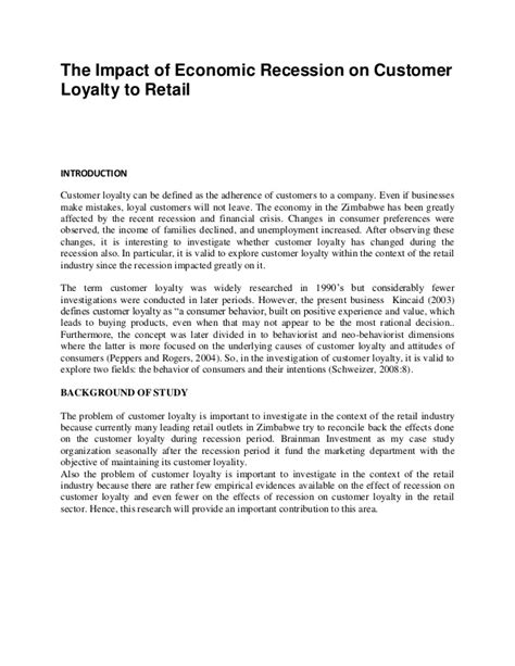 research proposal customer loyality