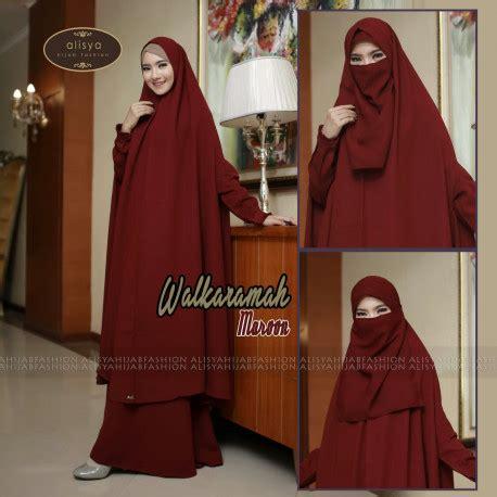 Kirana Syar I Gold walkarahmah maroon pusat busana gaun pesta muslim modern