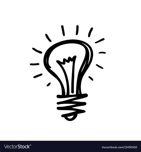 light up drawing light creative sketch draw royalty free vector image