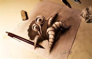 How To Make A 3d Drawing On Paper - dreamers fabulous 3d drawing on paper