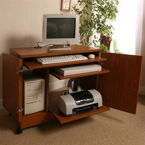 Small Computer Desk With Shelves Small Computer Desk With Printer Shelf Custom Home