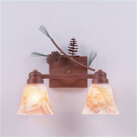 pine cone vanity lights rustic pine cone lights rustic lighting by avalanche