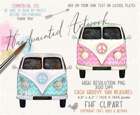 volkswagen hippie van clipart retro vw van bus clip art vintage hippie love bus digital
