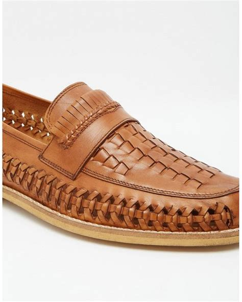 frank wright loafers frank wright woven loafers in in brown for