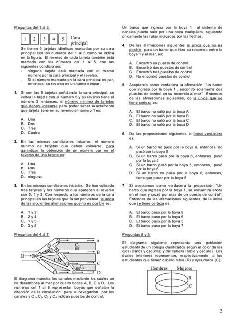 preguntas del examen para subdirector academico ems ejemplo examen de admisi 243 n universidad de cartagena