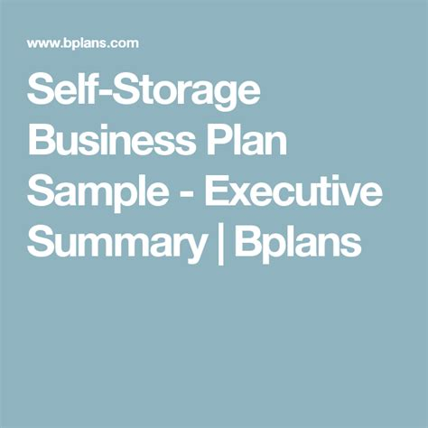 self storage business plan template self storage business plan template free self storage