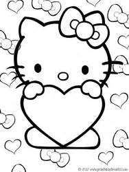 Hello Kitty Valentines Coloring Pages — Printable Treatscom sketch template