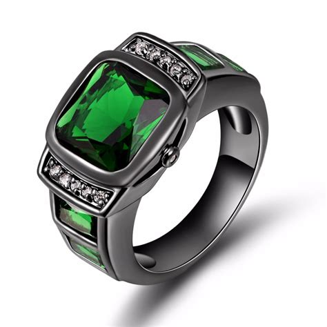 Popular Mens Emerald Rings Buy Cheap Mens Emerald Rings