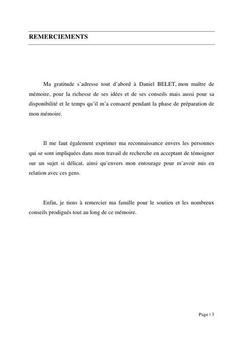 Exemple De Lettre De Remerciement Pour Mémoire Modele Lettre De Remerciement Memoire