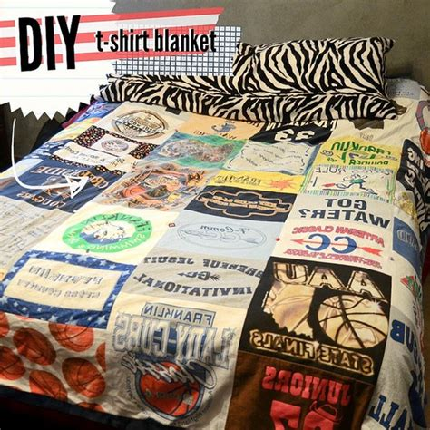 Blanket Out Of T Shirts by Handmadera T Shirt Quilt Diy