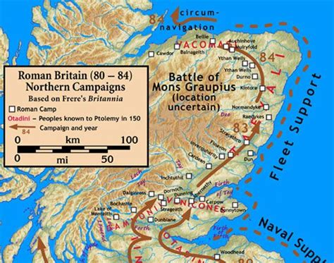 britannia obscura mapping britains 1784700002 roman frontier forts in scotland with cawdor possibly being the furthest the romans ever got