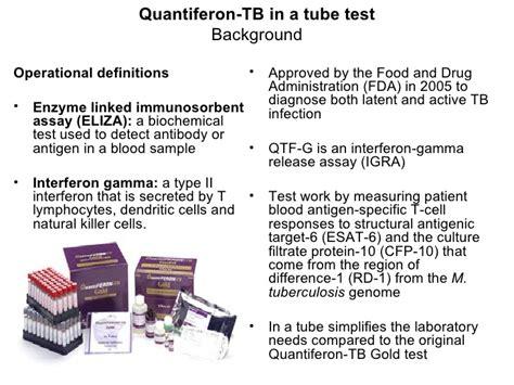 test quantiferon koch to quantiferon